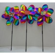 "36 of 14"" Double Wind Spinner-Rainbow Sparkle"