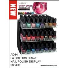 288 of LA Color Craze Nail Polish Display