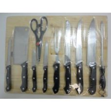 24 of 11pc Kitchen Knife Set with Cutting Board