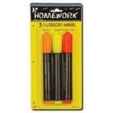 48 of Fluorescent Markers - 3 pk - Asst. Neon Colors