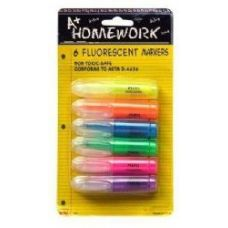 48 of Mini Highlighters 6 pk - Asst. Neon Colors