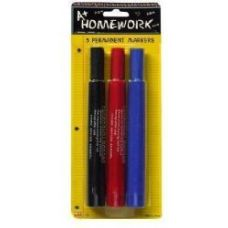 48 of Permanent Markers Large - 3 pk - Black,Blue,Red -Inks