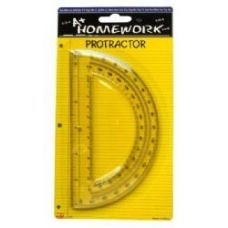 48 of Protractor - 6inch- 1 pack - Assorted Plastic Cl