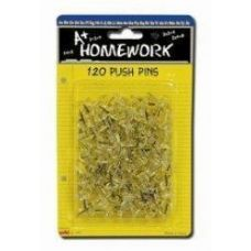 96 of Push Pins - 120ct.- Clear - Carded