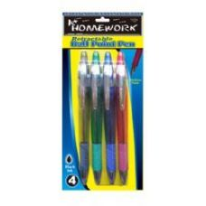 48 of Retractable Ball Point Pens - 4 pk - Black Ink