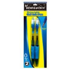 48 of Retractable Gel Pens - 2 pk - Blue Ink