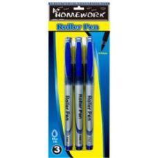 48 of Roller Pens - 3 pk - Blue Ink