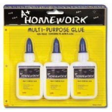 48 of School Glue - White - Washable - 3 pack - 1.25 oz each