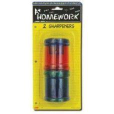 96 of Sharpener - Pencil - Lg. Round - 2 pack