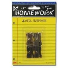 96 of Sharpeners - Pencil - 4 pack - All Metal - 1 hole ea.