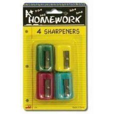 48 of Sharpeners - Pencil - Rectangular - 4 pack