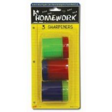 48 of Sharpeners - Pencil - Round - 3 pack