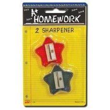 96 of Sharpeners - Pencil - Star Design - 2 pack