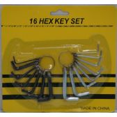 36 of 16pc Hex Key Set