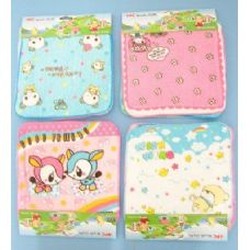 144 of 4pc 100% Cotton Printed Kids Washcloth