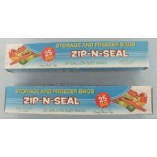 72 of 25pc Zip N Seal Gallon Bags