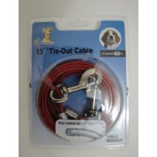 12 of 15' Dog Tie Out Cable