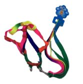 """48 of Rainbow Dog Harness with 48"""" Leash [Small-Thin]"""