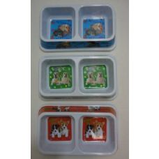 48 of Printed Double Pet Dish-Rectangle