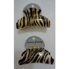 "72 of 3.5"" Claw Clip-Zebra Print"