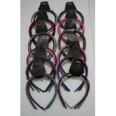 72 of 3pk Fabric Covered Headbands-Assortment