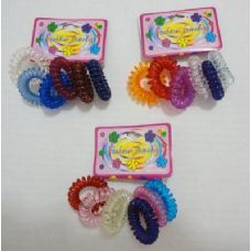 144 of 6pc Coil Hair Tie Back