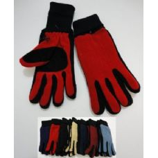 144 of Ladies Cuffed Gloves with Suede Palm (Two Tone)