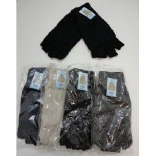 144 of Men's Thermal Insulate Fingerless Gloves--Solid Color