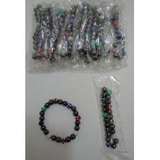 "72 of 7"" Magnetic Bracelet-Round Sparkle Beads"
