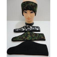 144 of Wrap Around Headband with Velcro--3 Colors