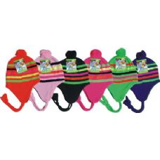 96 of Neon Craze Striped Fleece Winter Hat