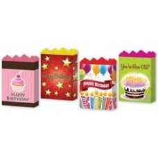"144 of Happy Birthday Assortment #2 4 Asst. Large 10.25"" x 12.75"" x 5"""