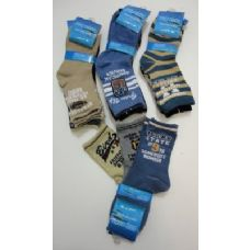 300 of Boys Printed Crew Socks 6-8