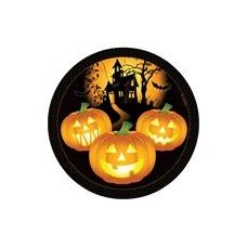 """144 of Haunted House 7"""" Plate-8 Piece"""