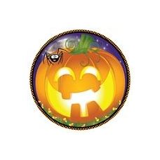 "72 of  Pumpkin Grins 7"" Plate-8 Ct."