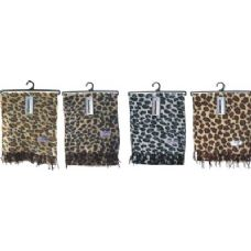 72 of Ladies Leopard Print Woven Cashmere Feel Scarf #21017