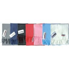 48 of Fleece Winter Scarf Solid Colors Assorted