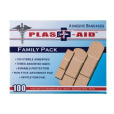 144 of Item# 1001 100 Count Adhesive Bandages Assorted Sizes