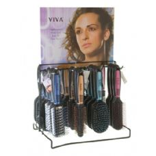 144 of Viva Pastel/Black Hairbrush On Metal Display Rack