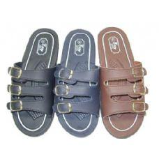 48 of Ladies Three Buckle Slide Sandal Size 7-11