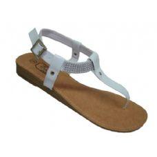 18 of Ladies Beaded Ankle Thong Sandal