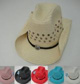 120 of Mesh Cowboy Hat with Medallion on Hat Band