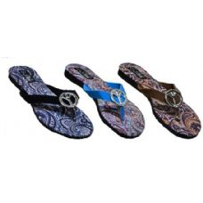 48 of Ladies Paisly Peace Sign Sandal