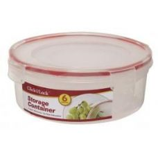 24 of 6 Piece Round Plastic Container with Click And Lock Lids
