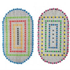 36 of Bath Mat Multi Color Dots 15in By 27in