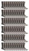 72 of SOCKSNBULK Bulk Pack Cotton Crew Socks, Size 9-11 (Gray)