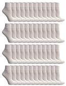 48 of SOCKSNBULK Women's Bulk Pack Cotton Ankle Socks, Size 9-11 (White)