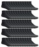 60 of SOCKSNBULK Women's Bulk Pack Cotton Ankle Socks, Size 9-11 (Black)