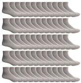 60 of SOCKSNBULK Women's Bulk Pack Cotton Ankle Socks, Size 9-11 (Gray)