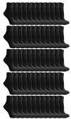 180 of SOCKSNBULK Women's Bulk Pack Cotton Ankle Socks, Size 9-11 (Black)
